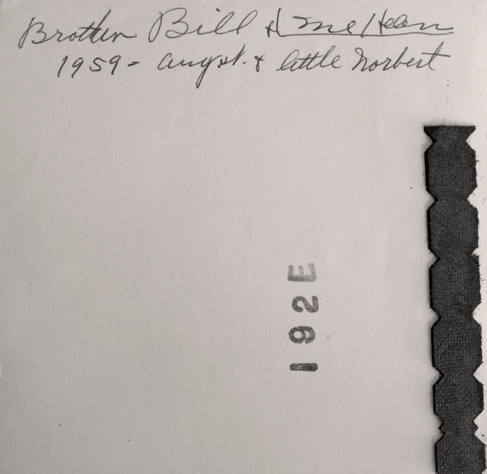 Michelle M. Murosky: The Bukowski Collection &emdash; Bukowski Family Photograph (Back)