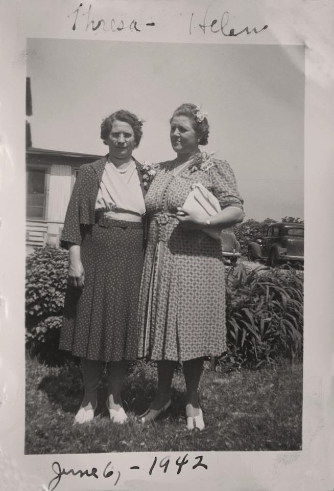 Michelle M. Murosky: The Murosky Collection &emdash; 1942 - Theresa Filipkowski & Helen Tillie Bukowski
